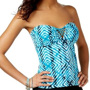Hula Honey Aftershock Tie Dye Tankini Bikini Set L